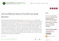 Montreal Financial Small Business Blog