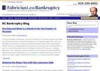 North Carolina Bankruptcy Blog