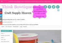 Think Bowtique for your grosgrain ribbon and craft supplies