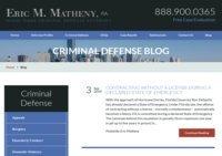 Eric Matheny Criminal Defense Blog