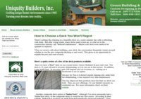 Uniquity Bulders, Inc. Green Building and Remodeling