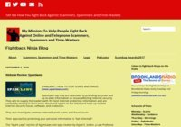Fightback Ninja helps you fight back against scammers, spammers and time-wasters