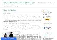 The FC Start Movie Blog: Director's Journal