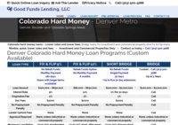 Denver Colorado Hard Money And Bridge Loans - Good Funds Lending, LLC