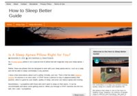 How To Sleep Better Guide