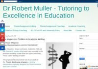 Dr Robert Muller - Tutoring to Excellence in Education