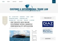 Customs & International Trade Law Blog