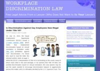 Workplace Discrimination Law