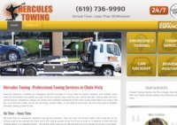 Expert Towing & Roadside Help Services in Chula Vista, CA - Hercules Towing