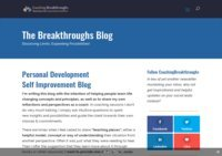 Personal Coaching Breakthroughs Blog