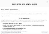 Daily Living with Mental Illness