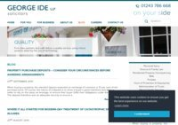 George Ide LLP Solicitors Blog