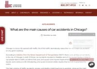 Main Causes of Car Accidents in Chicago - Langdon & Emison