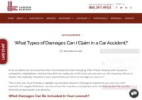 Types of Damages in a Car Accident Claim - Langdon & Emison