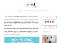 Oh My Dog Blog
