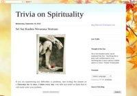 Trivia on spirituality