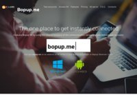 Stay connected, just Bopup me!